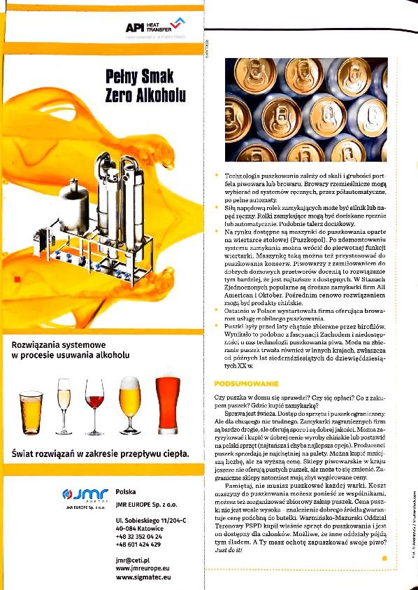 Nasze reklamy w magazynie Piwowar nr 31