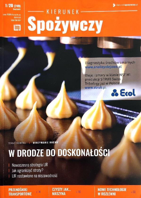 """Our advertisement in the """"Kierunek spożywczy"""" magazine"""