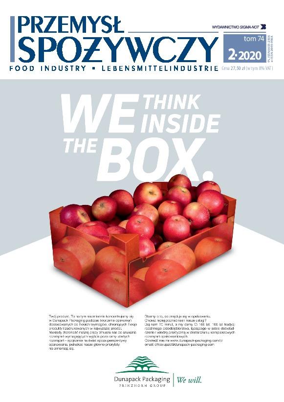 """Our advertisement in the """"Przemysł Spożywczy"""" magazine"""